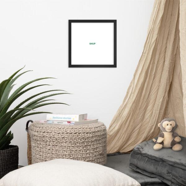 enhanced matte paper framed poster in black 12x12 front 612cf8181ab80