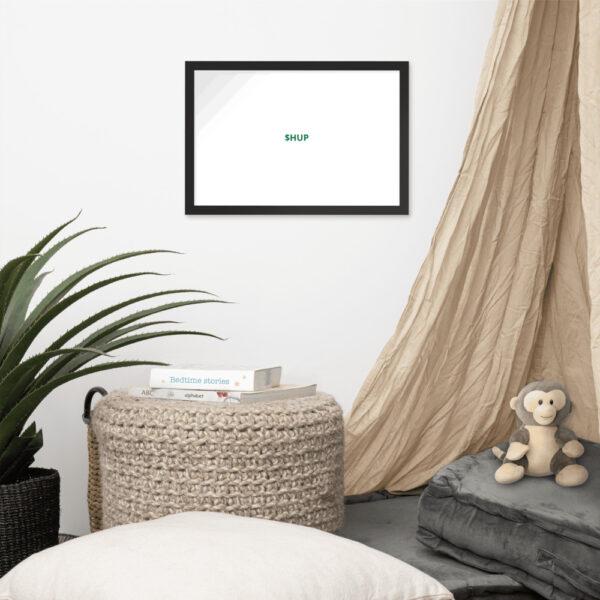 enhanced matte paper framed poster in black 12x18 front 612cf8181ae25